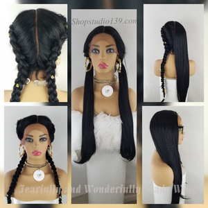 Sky2 super long sexy muitiple parting space lace wig perfect for all skin tone