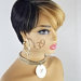 Mia is a sexy short pixie tapered wig with bangs perfect for all skin tones