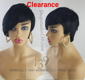 Terry Short Human hair pixie trappered wig