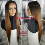 (Candy) Extra Long lace Front with Natural middle  Part