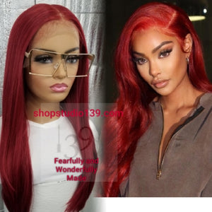 (Lori) transparent Lace Front Wig with shifting part