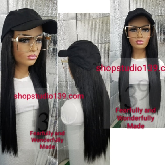 CUSTOM MADE /Wig Cap / HAT with HAIR