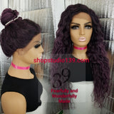 (Hillary) Water Wave Lace Front Wig with Natural parting middle or side