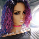 (victoria)  Non Lace Water Wave Side Part Wig with Baby Hair