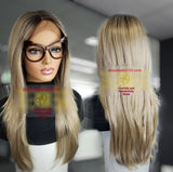 (Jessica) Ash Blonde HD Lace Front Wig with shifting part