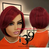 (Monica) BoB cut wig with side part and bangs