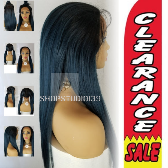 (Sky) Blue muilt parting space lace wig