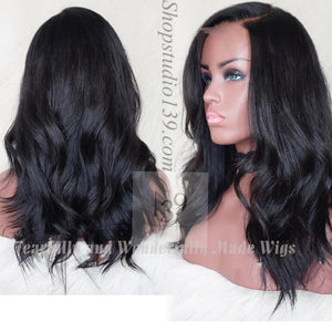 (67) 100% Human Hair Loose Wave lace front wig with free parting