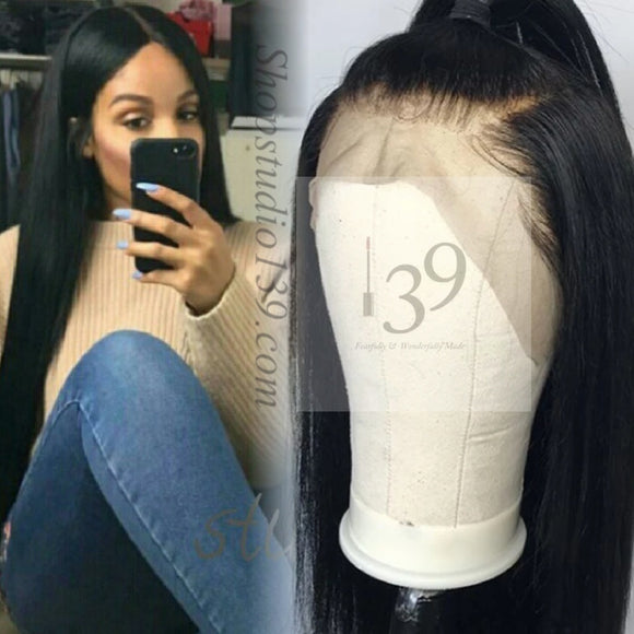 Beautiful Bone straight human hair lace front wig