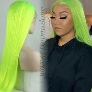 Bright Green Lace Front Wig