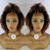 (Chole) kinky curly lace front wig
