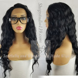 Lakisha swiss Deep wave lace front wig