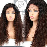 Brazilian Slayqueen celebrity Lace Front ombre color Wigs