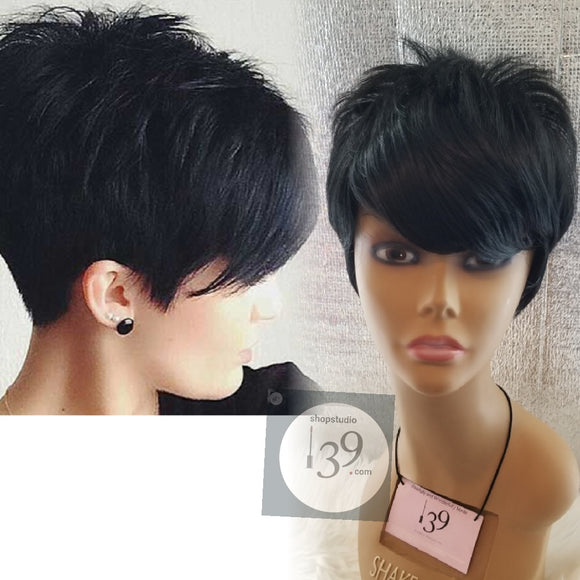 Short pixie tapered wig