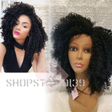 (Chloe) Human Hair Blend Kinky Curly Lace Front