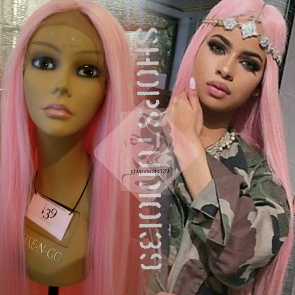 Pink Panther 30' Human hair blend lace front wig