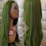 Army Green 24' Lace front wig