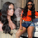 100% Human Hair Body Wave Lace Front Wig