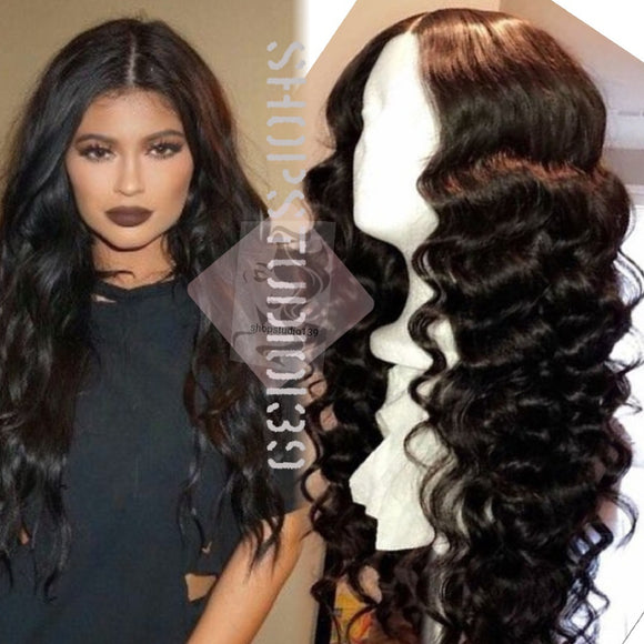 (#23) Human hair lace front Body wave wig