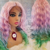 (Crystal) Pastal Colored lace front wig
