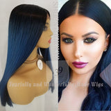 blue ombre lace front wig perfect for all skin tones