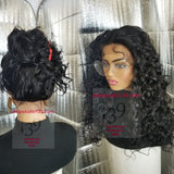 360°  Big curly lace front wig with multiple parting space