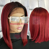 (Tanya) Blunt cut bob wig with middle part