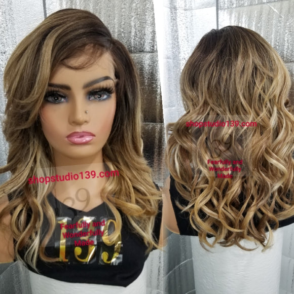(Blance) transparent ear to ear lace front wig