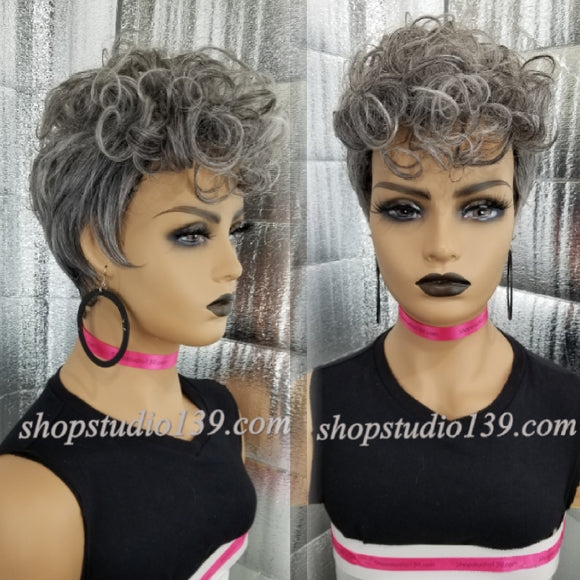 (Mohawk Mandy) Sexy pixie wig with tapered back
