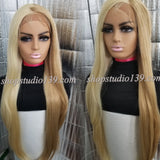 (Chanel) 2 tone lace front wig with zig zag part