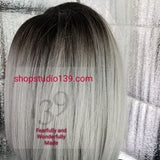 Spring) Side part swoop Bang Bob Lace Front Wig with baby Hair