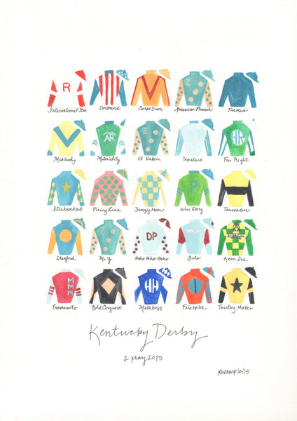 Kentucky Derby 141 Silks Print