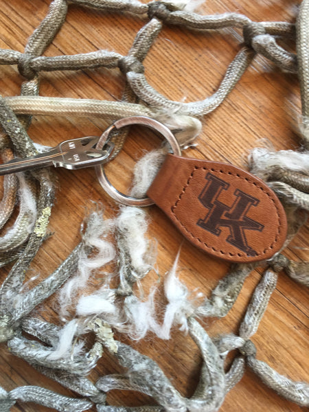Leather UK Keychain