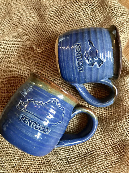 KY Made Pottery Mug Horse