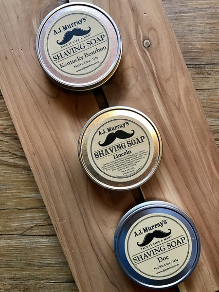 A.J. Murray's Shaving Soap--3 Scents