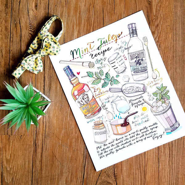 Mint Julep Recipe Print