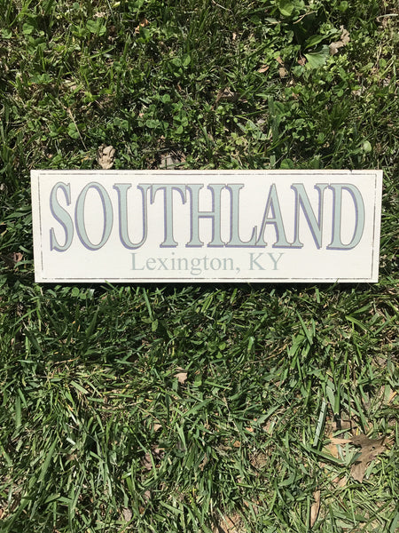 Southland Wooden Sign