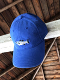Bass Needlepoint Hat - Blue