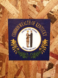 Commonwealth of KY Flag Sticker
