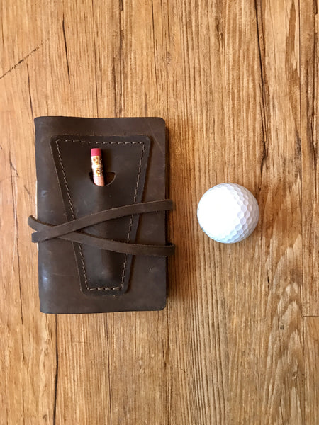 Leather Golf Log