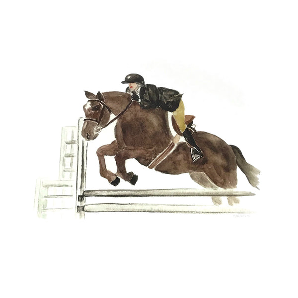 Hunter Jumper Motif Print