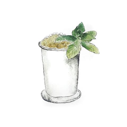 Mint Julep Greeting Card