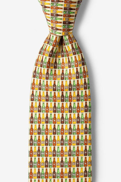 99 Bottles Yellow Silk Tie