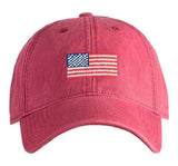 Flag Needlepoint Hat - Red