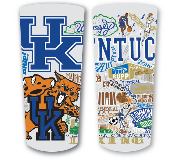 University of Kentucky Frosted Glass