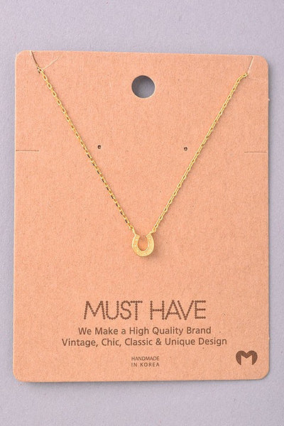 Horseshoe Necklace--3 Colors