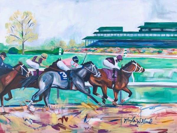 Keeneland In The Spring Print
