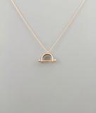 Stirrup Charm Necklace