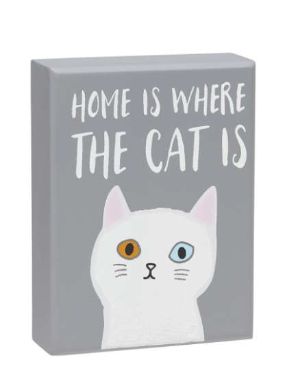 Home is Cat Box Sign