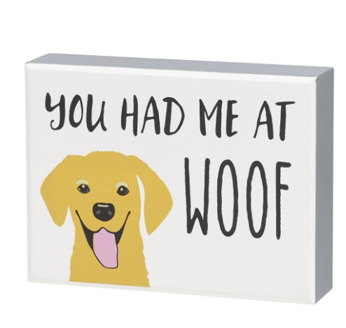 Woof Block Sign